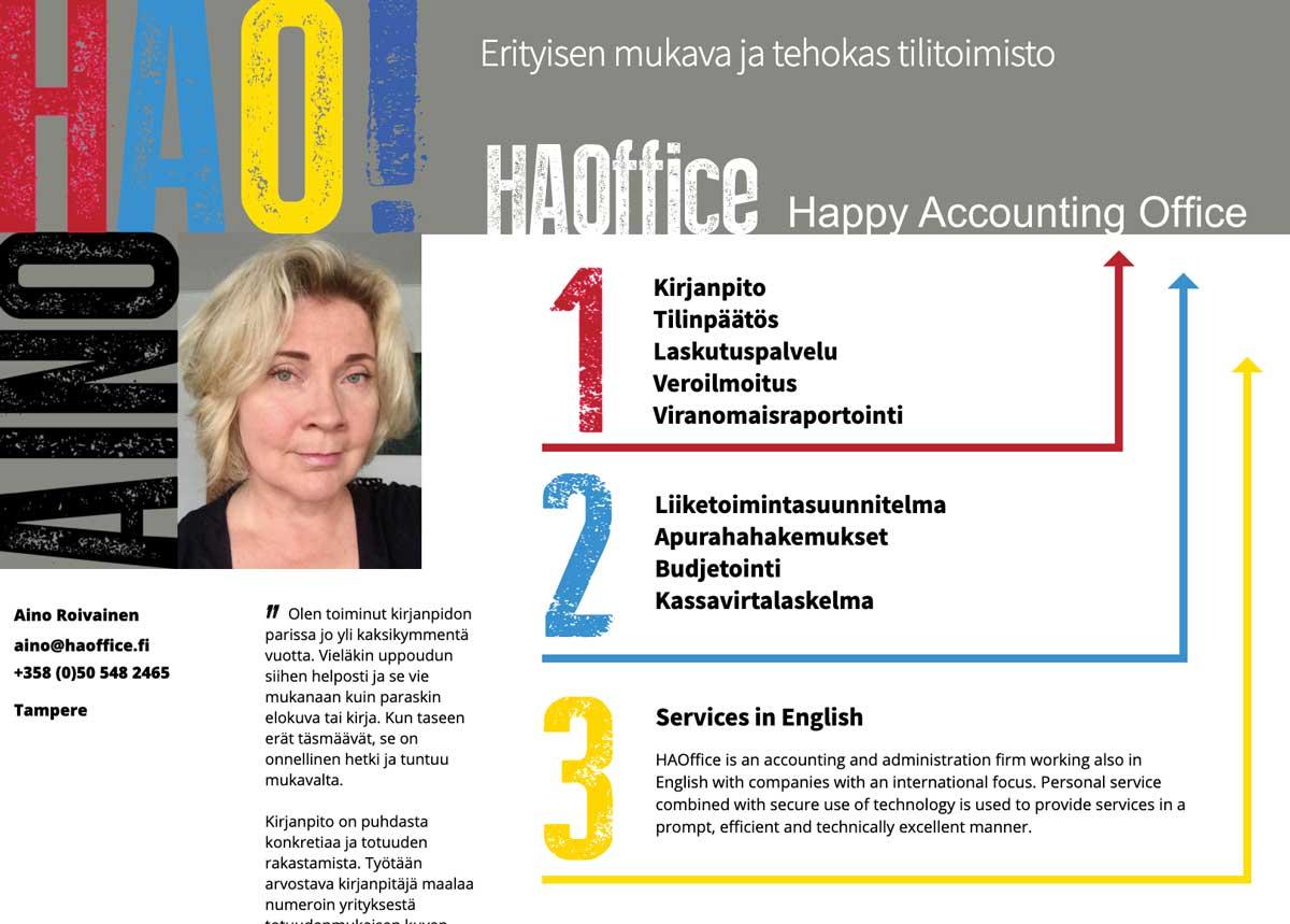 Tehokas kirjanpito ja tilitoimisto-Tampereella- HA Office Oy