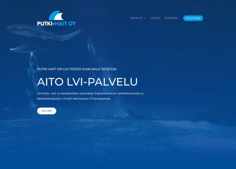 Putki-Hait Oy:n uudet kotisivut